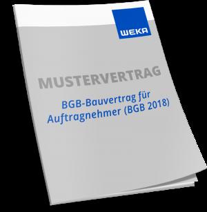 Mustervertrag BGB-Bauvertrag für Auftragnehmer - WEKA Bausoftware
