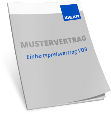 Mustervertrag Einheitspreisvertrag VOB WEKA Bausoftware