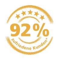 92% zufriedenen Kunden