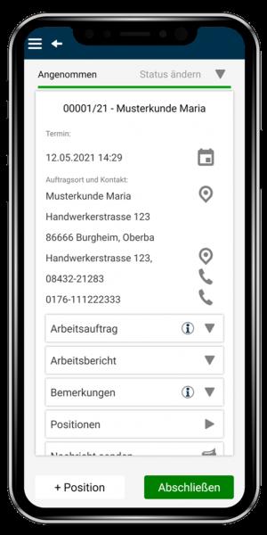Modul Reparatur und Mitarbeiterplanung - Smartphone App hand:werk Premium - Handwerksbüro PS