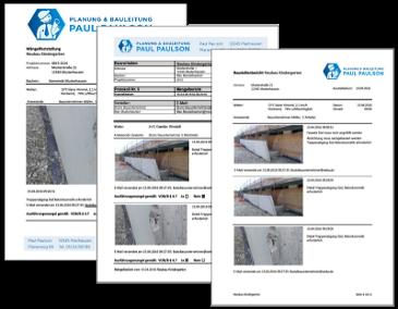 Baudokumentation - Mit einem Klick erstellen Sie nun Baustellenberichte und Ihr Bautagebuch