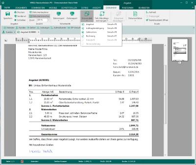 Handwerksbüro PS - Textverarbeitung