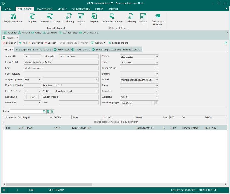 Handwerksbüro PS - Büro-Komplettlösung für alle Gewerke