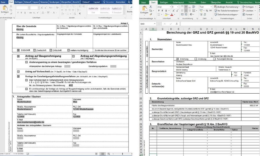 Antragsformulare und Berechnungen automatisch ausfüllen