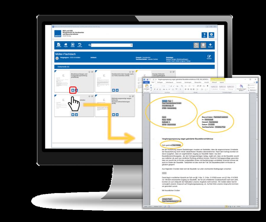 BGB und VOB Musterbriefe - Vorlagen automatisch ausfüllen lassen