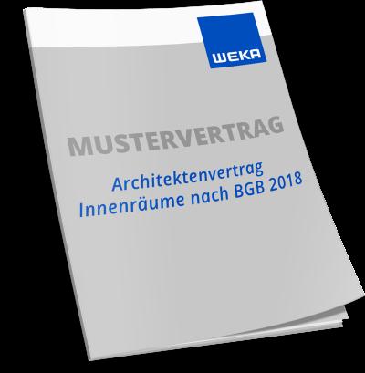 Mustervertrag Architektenvertrag Innenräume nach BGB 2018 WEKA Bausoftware