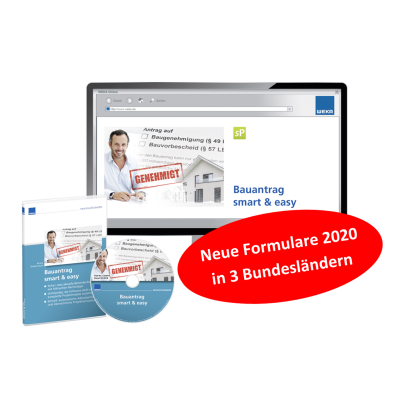Bauantrag smart& easy - Neue Formulare 2020 in 3 Bundesländern