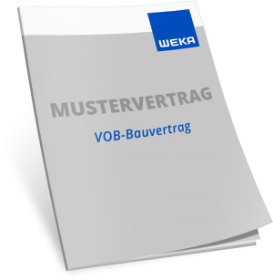 Mustervertrag VOB-Bauvertrag mit Abweichung - WEKA Bausoftware