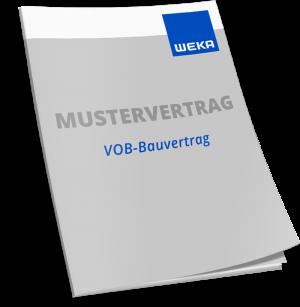 Mustervertrag VOB-Bauvertrag ohne Abweichung - WEKA Bausoftware