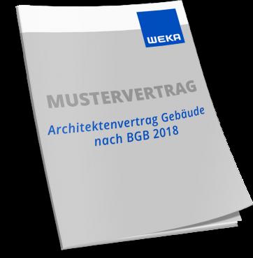 Mustervertrag Architektenvertrag Gebäude nach BGB 2018 WEKA Bausoftware
