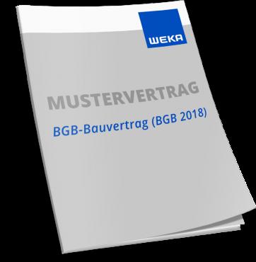 Mustervertrag BGB-Bauvertrag (BGB 2018) WEKA Bausoftware