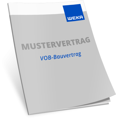 Mustervertrag VOB-Bauvertrag WEKA Bausoftware