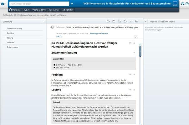 VOB Kommentare & Musterbriefe - Aktuelle Praxisfälle mit konkreten Handlungsempfehlungen