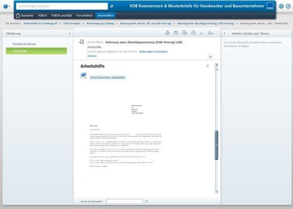 VOB Kommentare & Musterbriefe - Fertige formulierte Musterbriefe für den schnellen Einsatz