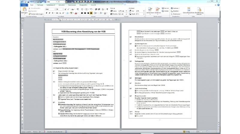 Musterverträge und -briefe - So bearbeiten Sie die gewünschte Vorlage in Ihrer eigenen Textverarbeitung