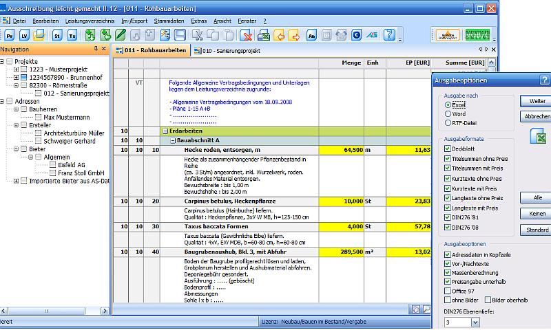 Ausschreiben leicht gemacht - Einfach und komfortabel zu VOB-konformen Leistungsverzeichnissen!