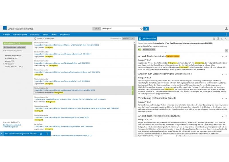 VOB/C 2016 Praxiskommentar - Übersichtliche Ergebnisdarstellung