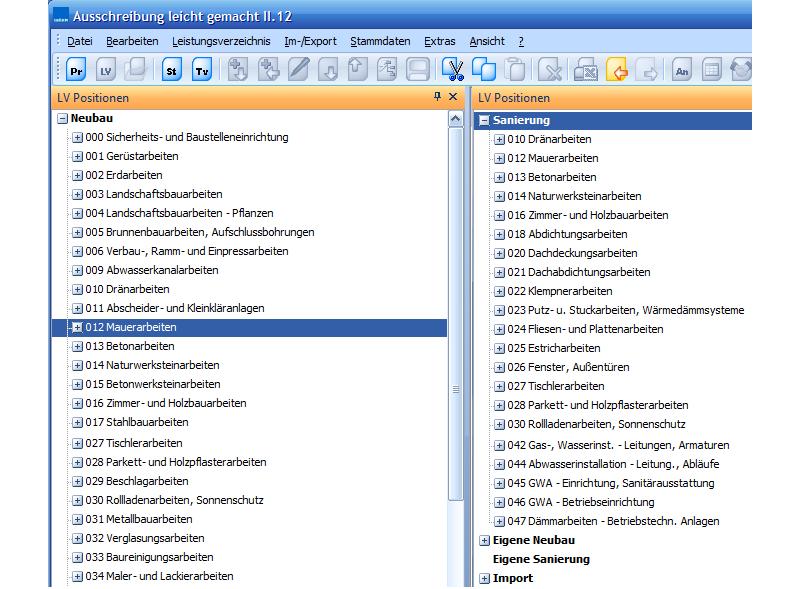 Ausschreiben leicht gemacht - Integrierte VOB/C-Intelligenz!