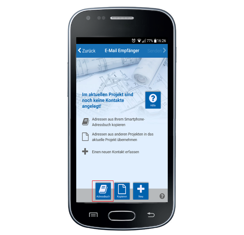 Adressen aus Ihren Handy-Kontakten nutzen