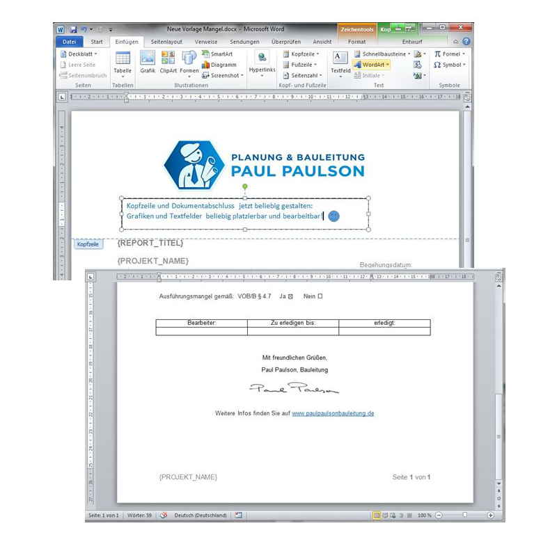 Baudokumentation - Jetzt können Sie individuelle Druckvorlagen erstellen